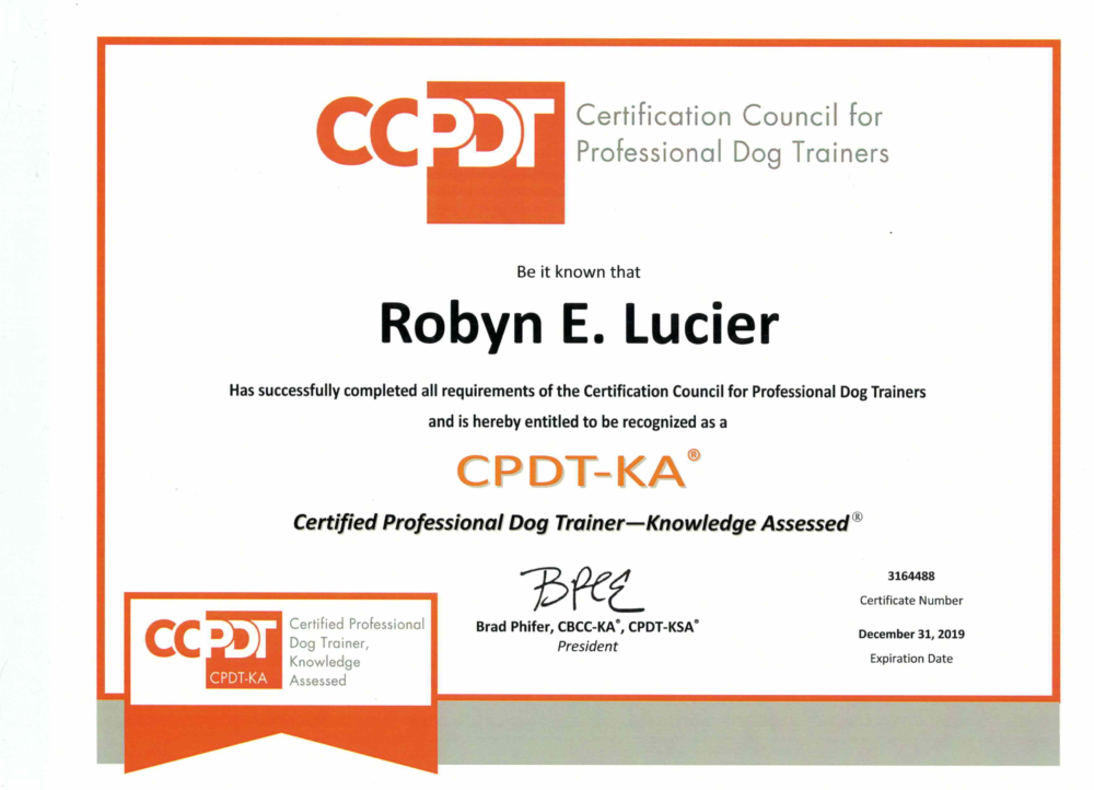 We Are Certified Canine Congeniality